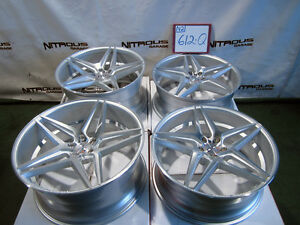 22 Blaque Diamond Bd8 Concave Audi A7 S7 A8 A8l Staggered Silver Wheels W612q