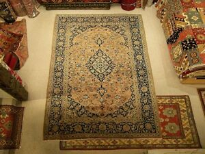 7 3 X 11 Handmade Antique Persian Oriental Wool Rug Muted Colors Fine Quality