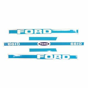 Decal Set For Ford Tractor 6610 Decals
