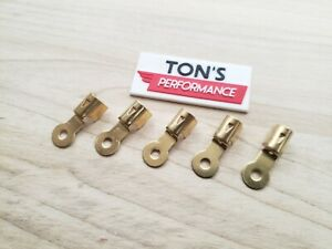 Brass Spark Plug Wire Ends Clips Crimp Ring Terminals Maytag Briggs Hit Miss