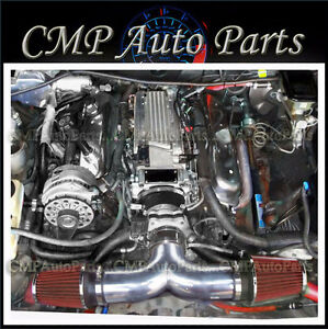 Black Red 1994 1996 Chevy Impala Ss Caprice 4 3l 5 7l V8 Dual Air Intake Kit