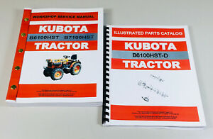 Kubota B6100hst d Tractor Service Repair Manual Parts Catalog Tech Shop Book