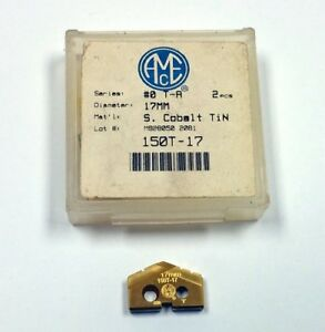17mm Series 0 T a Drill Insert 150t 17 Super Cobalt Tin Coated pack Of 2