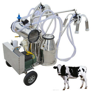 Electric Vacuum Pump Milking Machine For Farm Cows Double Tank High Quality