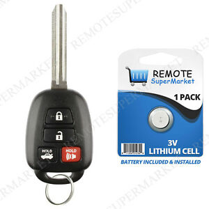 Replacement For Toyota 2014 2016 Camry Corolla Keyless Entry Remote Car Key Fob
