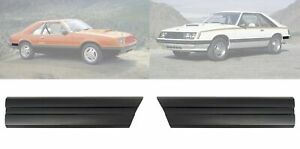 1979 1984 Ford Mustang Rear Of Quarter Body Trim Moldings Black Pair Lh