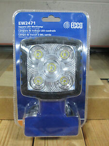 Ecco Ew2471 Square Led Worklamp Flood Beam