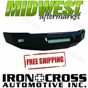 Iron Cross Low Profile Matte Black Front Bumper Fits 2014 2015 Gmc Sierra 1500