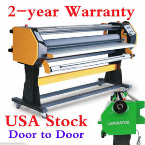 Usa Stock 67 Full auto Single Side Wide Format Hot Cold Laminator With Stand