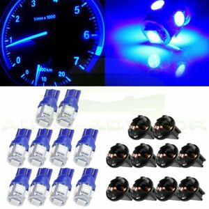 10x Blue T10 Twist Lock 5smd Led Instrument Cluster Gauge Dash Light Pc168 Pc194
