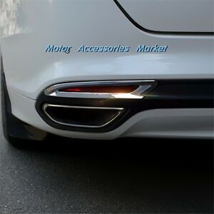 New Chrome Rear Fog Lamp Light Cover Trim For Ford Fusion 2013 2018