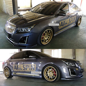 Roadruns Side Skirts For Chevrolet Cruze 13 15 F l two tone Painted