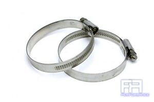 2x Hps Stainless Steel Embossed Hose Clamps Sae 64 4 4 1 2 100mm 114mm