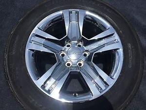 4 Genuine Gmc Chrome Wheels Tires Rims Sierra Denali Yukon Factory 20 Brand New