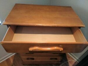 Antique 1930 S Solid Wood 5 Drawer Dresser Nightstand 165 Together Or Separate