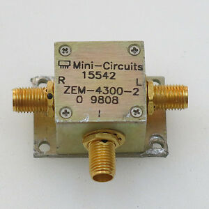 1pc Used Good Mini circuits Zem 4300 2 Coaxial Frequency Mixer 300 4300 Mhz