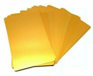 100 Gold Anodized Aluminum Business Card Blanks Laser Engraving Stamping Metal