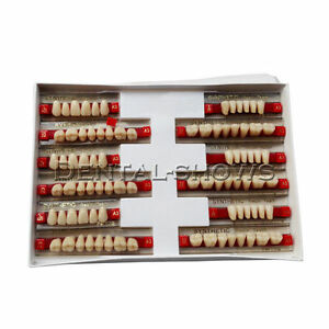 10boxes Dental 84 1 Acrylic Resin Denture Teeth Color Upper Lower Shade A3