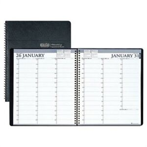 Professional Weekly Planner 15 minute Appointments 8 1 2 X 11 Black 2014 X2