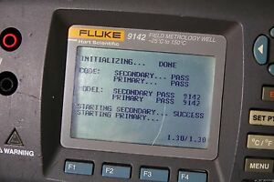 Fluke 9142 Field Metrology Well 25 c To 150 c Dry Block Temperature Calibrator