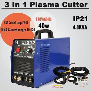 3 In 1 Plasma Cutter Tig Mma Welder Cutting Welding Machine Ct 312 Blue