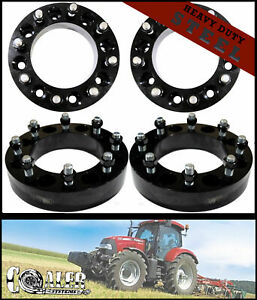 Set Of 4 Skid Steer Wheel Spacers 2 Steel 8 Lug Bobcat Case John Deere Terex