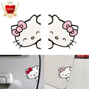 Smile About Hello Kitty Car Vinyl Decal Cute Funny Truck Window Bumper Sticker