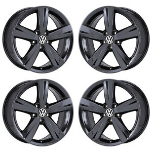 17 Volkswagen Passat Black Chrome Wheels Rims Factory Oem Set 4 69928 Exchange