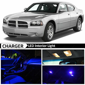 2006 2010 Dodge Charger Blue Led Interior License Plate Lights Package Kit