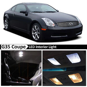 White Interior Led Lights Package Kit Fit 2003 2007 Infiniti G35 Coupe