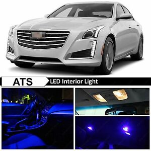 Fits 2013 2015 Cadillac Ats Blue Interior License Plate Led Lights Package Kit