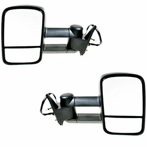 For 88 98 Chevy Gmc C K Tahoe Yukon Black Power Towing Mirrors Side Tow Pair
