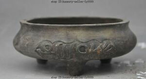 Marked Old China Buddhism Temple Joss Bronze Islamic Text Incense Burner Censer