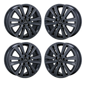 17 Lexus Es350 Black Chrome Wheels Rims Factory Oem 2015 Set 4 74276 Exchange