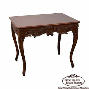 French Louis Xv Style Carved Side Table By Banks Coldstone Co