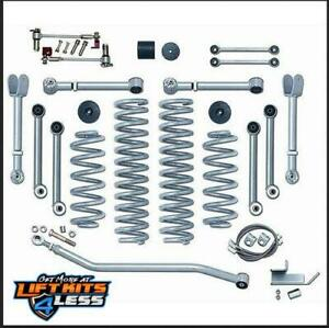 Rubicon Express 4 5 In S Arm Lift Kit T Shocks 97 06 Jeep Wrangler Tj Re7000t