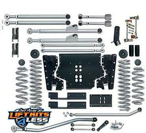 Rubicon Re7204 4 5 Ed Long Arm Lift Kit With Rear Track Bar For 97 06 Jeep Tj