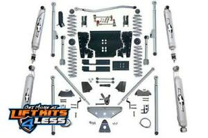 Rubicon Re7504t 4 5 Ed Long Arm Lift Kit With Twin Tube Shock For 97 06 Jeep Tj