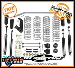 Rubicon Express Flex Susp Lift Kit Shocks 07 17 Jeep Wrangler Jk 4 Dr Re7142t