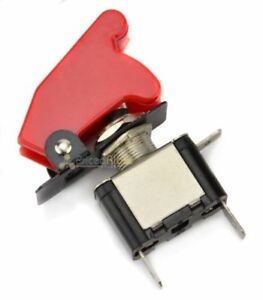 Red 12 Volt Toggle Covered Control On Off Switch Car Boat Airplane Spst Led
