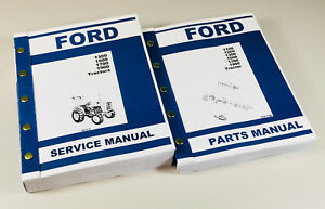 Ford 1300 1500 1700 1900 Tractor Service Shop Repair Manual Parts Catalog