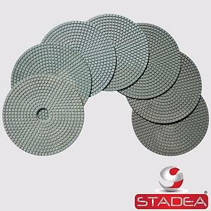 Stadea Granite Polishing Pads 7 Diamond Pads Set For Granite Quartz Polishing