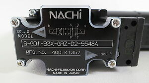Nachi Mini Solenoid Operated Directional Control Valve S g01 b3x grz d2 5548a