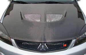 04 07 Mitsubishi Lancer Carbon Fiber Evo Hood 1pc Body Kit 104190