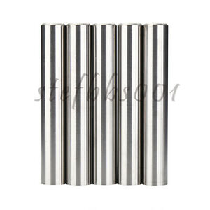 5pc 16mm X 100mm Ground Tungsten Carbide Rod K30 With Chamfer On One End 55hrc