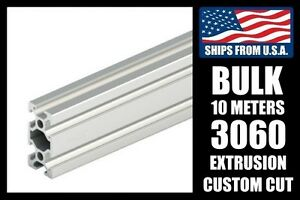 Bulk 10 Meters Custom Cut To Length 3060 Series Aluminum Extrusion 8mm T slot