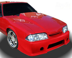 1987 1993 Ford Mustang Heat Extractor 3 Cowl Hood 1pc Body Kit