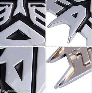 2 Set Of 3d Metal Decepticons Transformers Cars Emblem Badge Decal Sticker