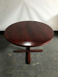 42 Round Office Conference Table Mahogany Color Finish