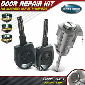 Door Lock Cylinder Repair Kit 2 Keys For Volkswagen Golf Jetta 97 06 Front Left
